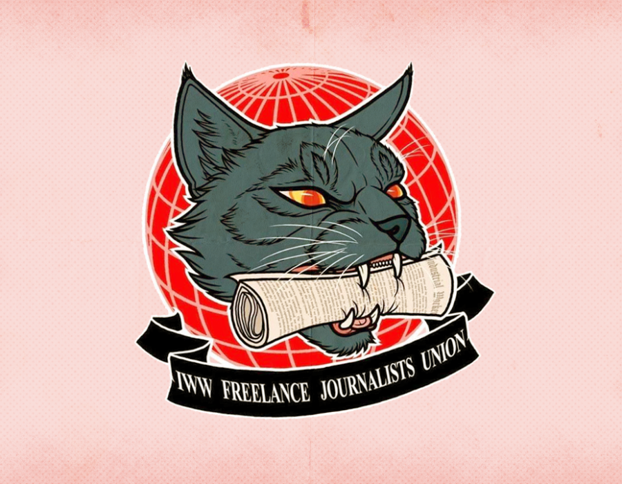 Industrial Workers of the World Freelance Journalists Union Logo