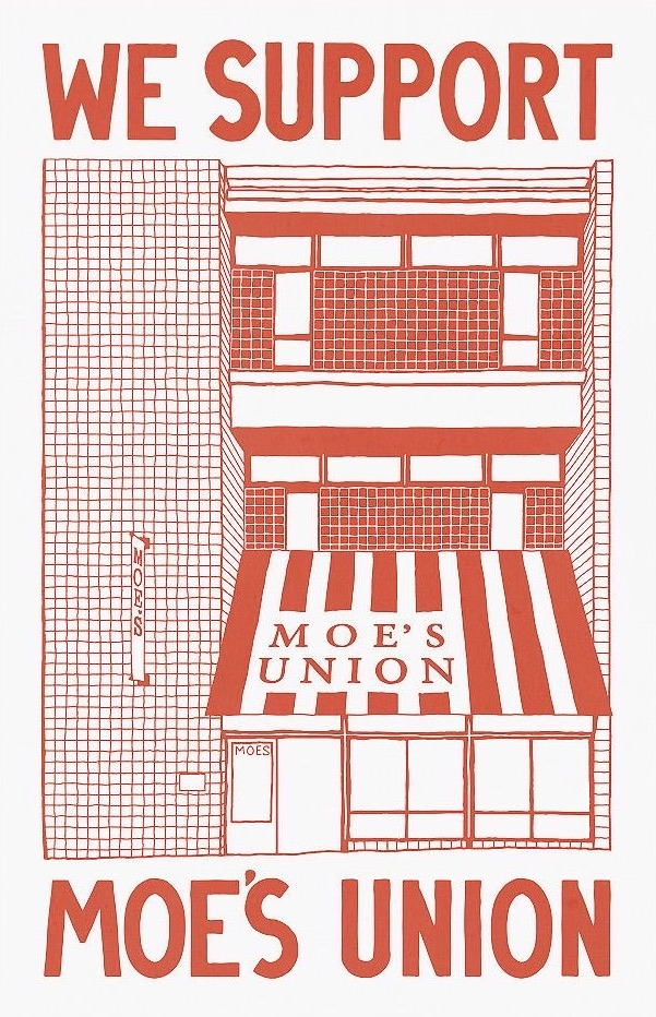 Moe's Books Union Poster by Ry Faraola